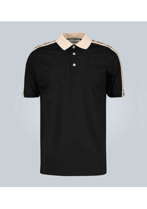 Polo with Interlocking G stripe