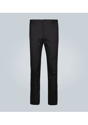 Tailored pants with band logo
