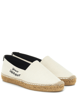 Embroidered canvas espadrilles