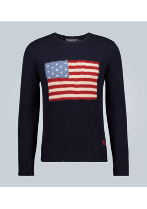 Flag long-sleeved sweater