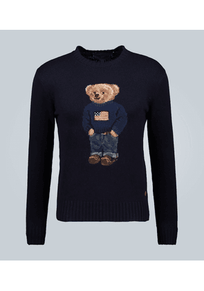 Flag Bear cashmere sweater
