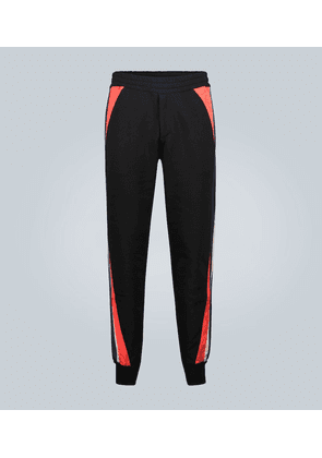 Jogger trackpants with patch inserts
