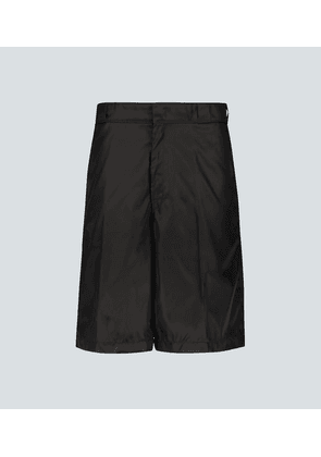 Relaxed-fit technical fabric shorts