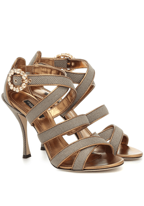 Keira leather-trimmed sandals