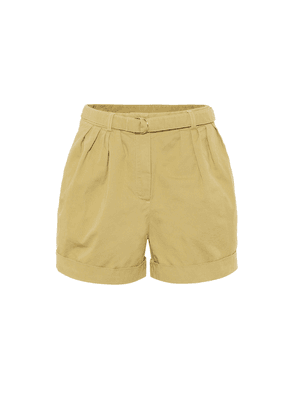 High-rise cotton-twill shorts