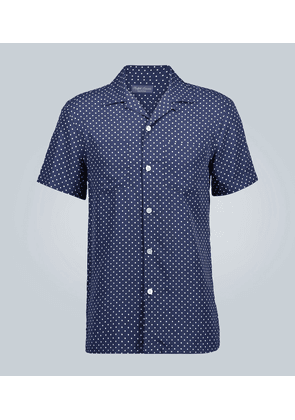 Polka-dot short-sleeved shirt