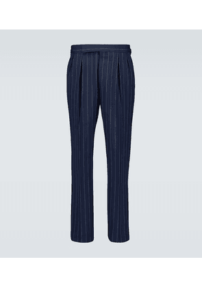 Relaxed-fit pinstriped pants