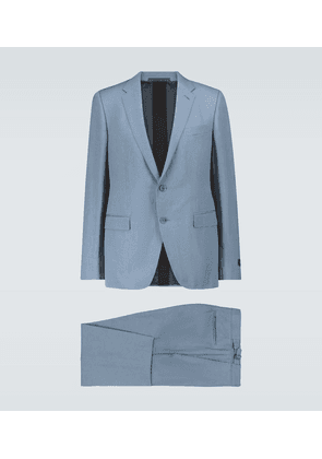 Wool and linen-blend suit