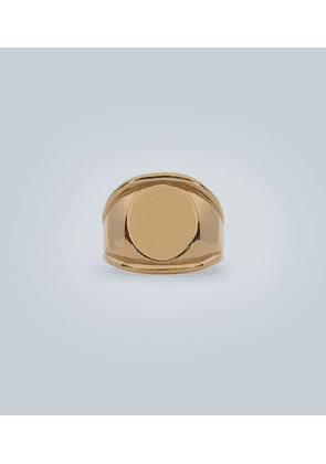 Yellow-gold silver ring