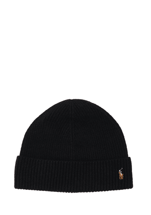 Bear Wool Knit Beanie Hat