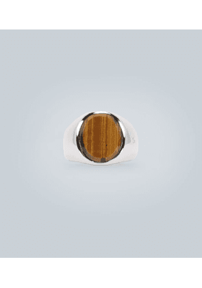 Oval tiger eye and silver ring