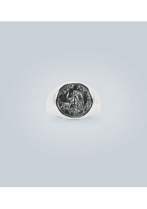 Sterling silver ring with coin