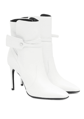 Ziptie leather ankle boots