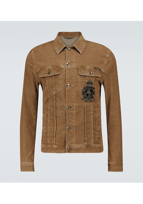 Boxy-fit corduroy jacket