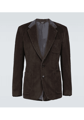Corduroy blazer with logo