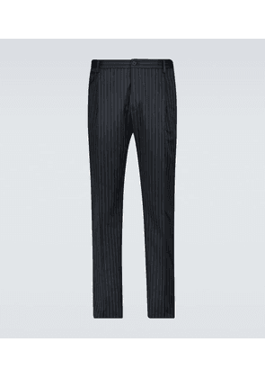 Pinstriped pleated pants