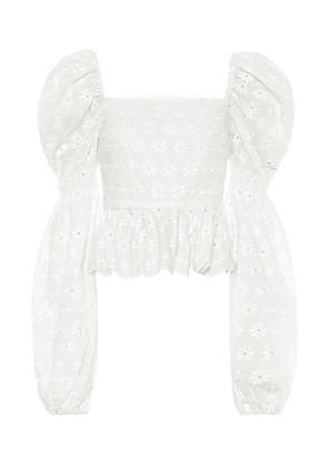 Wren embroidered cotton top