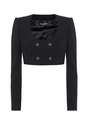 Cropped stretch-wool jacket