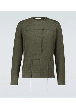Laced cashmere sweater