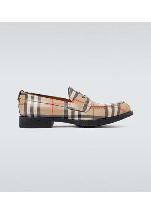 Emile checked loafers