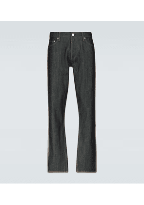 Straight-leg jeans with band