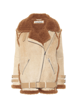 Shearling and suede jacket