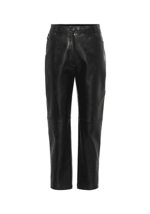 Hailey high-rise faux leather pants