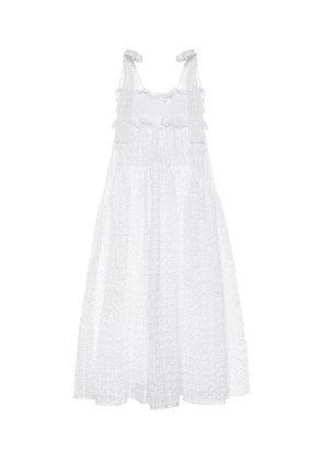 Mika smocked cloqué midi dress