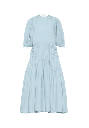 Libby cotton poplin midi dress