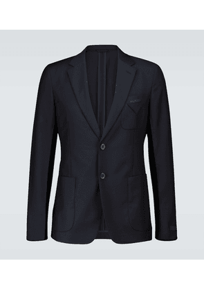 Wool and mohair-blend blazer