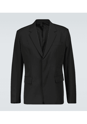Hidden button suit blazer