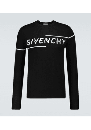 Sliced logo crewneck sweater