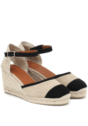 Caeli canvas wedge espadrilles