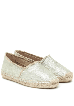 Kito metallic canvas espadrilles
