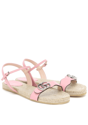 GG leather espadrille sandals
