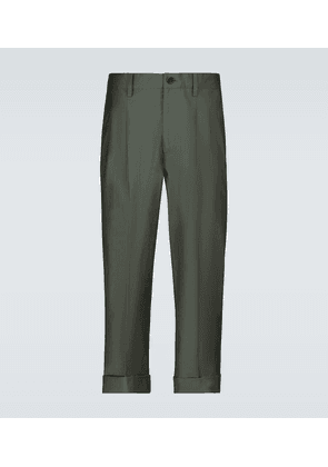 Athan double-pleated cropped pants