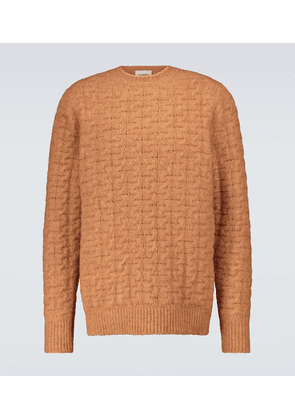 Virote cable-knitted crewneck sweater