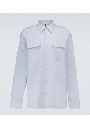Officer boxy-fit cotton shirt