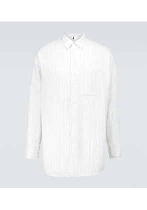 Henry technical striped overshirt