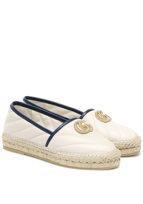 Double G quilted leather espadrilles
