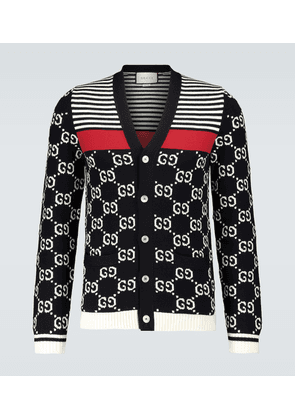 GG striped knitted cardigan