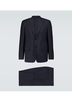 Wool and mohair canvas suit
