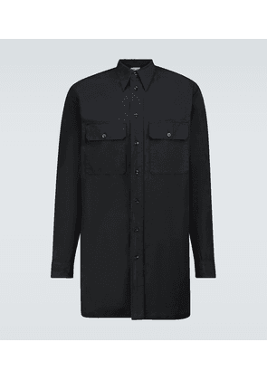 Cotton long-sleeved military shirt