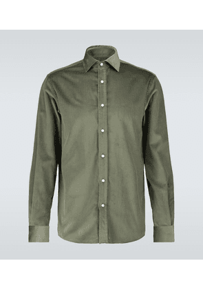 Long-sleeved corduroy shirt