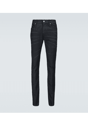 Skinny-fit coated jeans