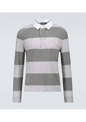 Cashmere rugby polo sweater