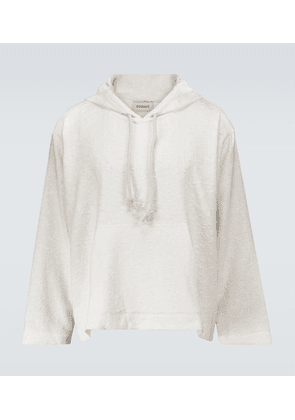 Textured hooded sweater