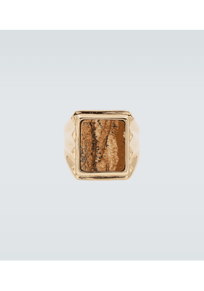Marble effect square ring