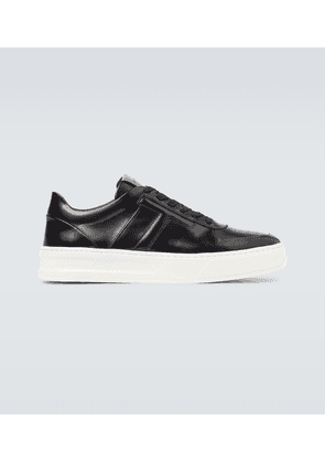 Spazzolato leather sneakers