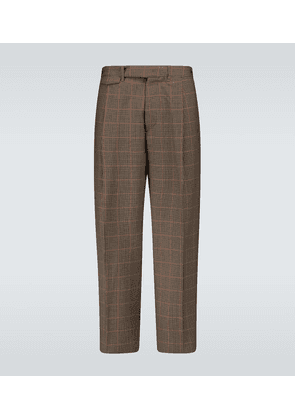 Carrot-fit checked pants